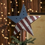 Rustic Americana Star Tree Topper