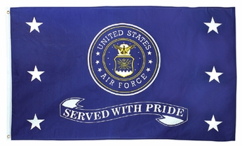 Served with Pride Air Force Flag