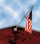 Franklin Series Single Corner Flagpole Kit