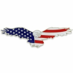 Soaring Eagle Patriotic Pin