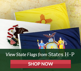 State Flags - States beginning with letter H Through P