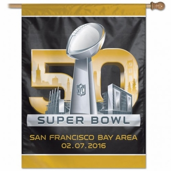 Super Bowl 50 Vertical Flag