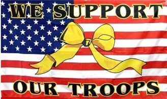 Support Our Troops - Yellow Ribbon/USFlag