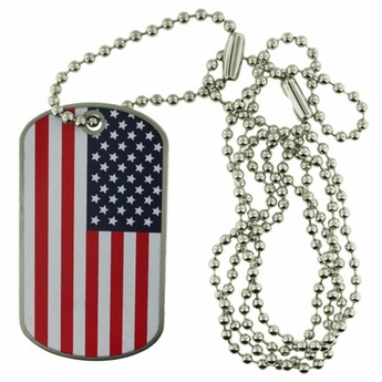 US Flag Dog Tag