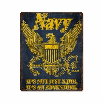 US Navy Retro Steel Sign