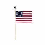 US Stick Flag with Solar Light