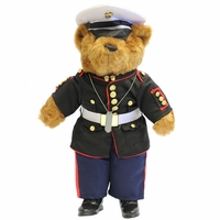 USMC Enlisted Dress Blue Uniform Plush Bear