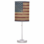 Vintage American Flag Table Lamp