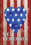 We Remember Our Heroes Garden Flag