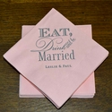 Eat Drink and Be Married Wedding Napkins