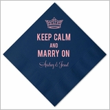Keep Calm & Marry On Personalized Napkins