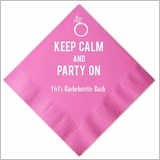 Keep Calm & Party On Personalized Napkins