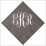 Large Monogram Custom Napkins