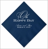 Oh Happy Day Wedding Napkins