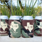 Personalized Camo Koozies