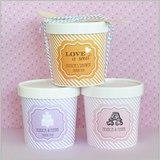 Personalized Ice Cream Containers