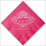 Personalized Party Napkins with Scrolled Border