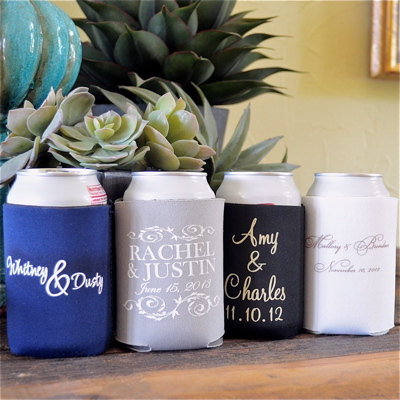 Neoprene koozies wedding