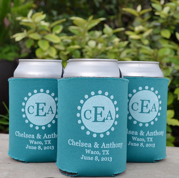 Personalized Wedding Koozies Custom Printed Neoprene Foam Koozie