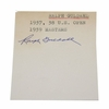 Lot 22 -Ralph Guldahl Signed Cut -JSA Full Letter Cert#X26339
