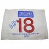 Lot 9 -1995 British Open ACTUAL 18th Hole FLAG from St. Andrews from Daly's Caddy G. RITA