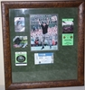 Lot 32 - Phil Mickelson Signed SI with All 5 Major Tickets Surrounding - Framed PSA/DNA P35232