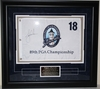 Lot 31 - Tiger Woods Signed 2007 PGA Championship Southern Hills Flag - Framed JSA COA