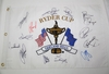 Lot 439 - 2004 Multi-Signed Ryder Cup at Oakland Hills Flag - Team Europe JSA COA