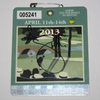 Lot 82 - 2013 Adam Signed Masters Badge JSA COA