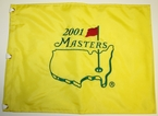 2001 Masters Embroidered Golf Pin Flag - Tiger Woods Champion