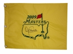 2009 Masters Flag Signed by Angel Cabrera
