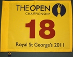 2011 The Open Championship Yellow Flag - Darren Clarke - Winner