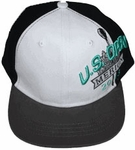 2013 US Open Custom Youth Flat Bill Hat - White and Black