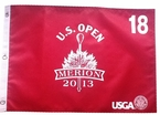 2013 US Open Red Screen Printed Pin Flag