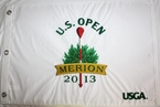 2013 US Open White Embroidered Pin Flag