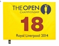 2014 British Open Pin Flag - Rory McIlroy 2014 Winner