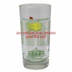 2015 Masters Commemorative Glass - Masters Golf Collectibles