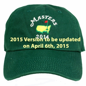 2015 Masters Green Caddy Hat
