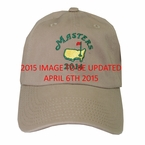 2015 Masters Hat with Date - Khaki