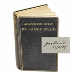 Lot 51 - James Braid Signed and Inscribed 'Advanced Golf' Book - Rare