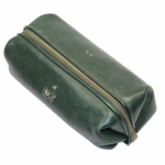 Lot 52 - Sam Snead's Personal Masters Gift (1971) Leather Shaving Kit/Toiletry Bag With S.S.