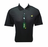 Masters Black Jersey Golf Shirt - Small through XXL