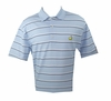 Masters Pique Light Blue Masters Golf Shirt w/ White & Navy Stripes - Small Large & XL ONLY!