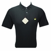 Masters Pique Black Golf Shirt - Medium & Large ONLY!