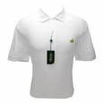 Masters Pique White Golf Shirt - Medium to XXXL
