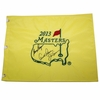 Lot 26 - Big 3 Arnie Jack and Gary Signed 2013 Masters Flag JSA COA