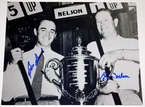 Byron Nelson and Sam Snead Signed PGA Trophy 8x10 Photo.