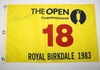 Lot 498 - Tom Watson Signed 1983 Royal Birkdale Replica Flag JSA COA