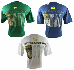 Masters Champions Shirts - 3 to choose from!!!!
