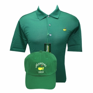 Masters Jersey Golf Polo & 2015 Green Caddy Hat Combo Deal